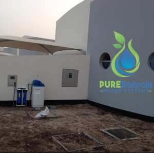 Water softener installed in bahrain Villa